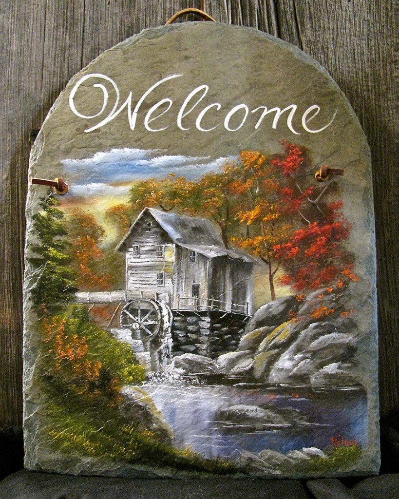 Hand Painted Slate Outdoor Signs