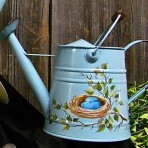 Nest with Eggs Watering Can