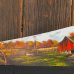 Fall Farm Scene Handsaw