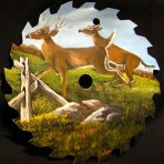 Deer Jumping Fence Round Blade – 7-8″