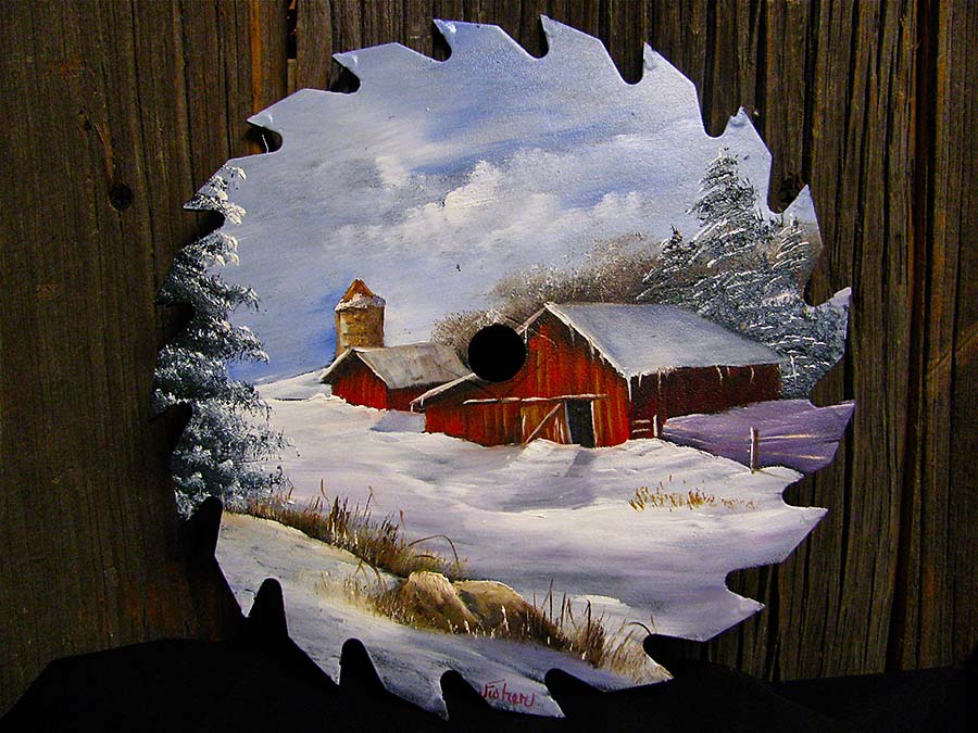 Winter Barn Round Blade 7 8 Quot Joyces Creative Country
