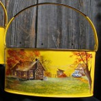 Fall Cabin Picnic Caddy