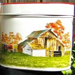 Barn Tin Pail with Lid