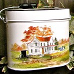 Farmhouse Tin Pail with Lid