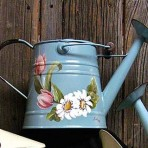 Daisies & Tulips Watering Can