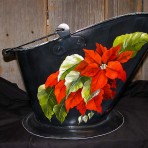 Poinsettia Coal Bucket