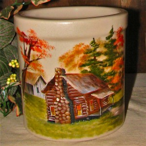 Log Cabin Crock