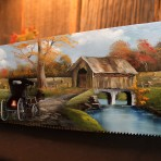 Fall Covered Bridge Handsaw