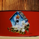 Blue Bird House Picnic Caddy