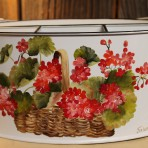 Geraniums Picnic Caddy