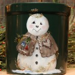 Country Time Snowman Crock