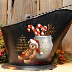 Christmas Time -large coal bucket