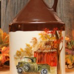 Old Green Truck Whiskey Jug