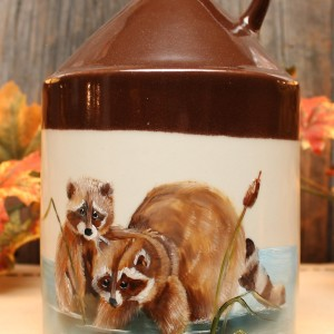 Raccoon Whiskey Jug