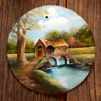 Spring Covered Bridge Round Blade 7-8″