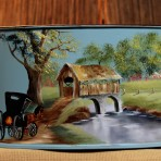 Spring Covered Bridge Picnic Caddy