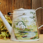 Springtime House Watering Can